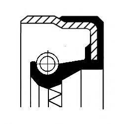 Уплотняющее кольцо, дифференциал; Уплотняющее кольцо, раздаточная коробка CORTECO 01016962B