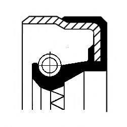 Сальник ступицы колеса CORTECO 01019888B