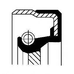 Уплотняющее кольцо, ступенчатая коробка передач CORTECO 01017136B