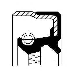 Уплотняющее кольцо, ступенчатая коробка передач; Уплотняющее кольцо, дифференциал CORTECO 01016879B