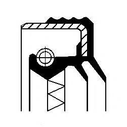 Уплотняющее кольцо, дифференциал; Уплотняющее кольцо, раздаточная коробка CORTECO 01033862B