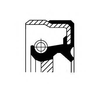Уплотняющее кольцо, ступенчатая коробка передач CORTECO 01036358B