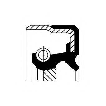 Уплотняющее кольцо, ступенчатая коробка передач; Уплотняющее кольцо, вспомогательный привод CORTECO 01029684B
