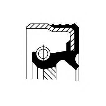 Уплотняющее кольцо, ступенчатая коробка передач CORTECO 01026691B