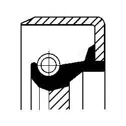 Уплотняющее кольцо, ступенчатая коробка передач CORTECO 01026396B