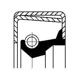 Сальник ступицы колеса CORTECO 01032105B