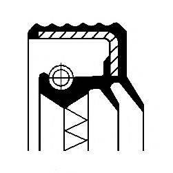 Сальник ступицы колеса CORTECO 01016917B