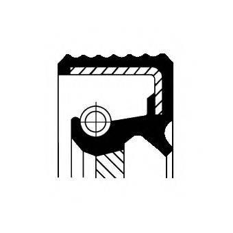 Уплотняющее кольцо, ступенчатая коробка передач CORTECO 01030125B