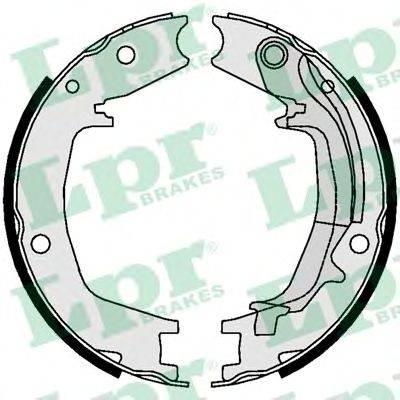 Комплект тормозных колодок, стояночная тормозная система LPR 01062