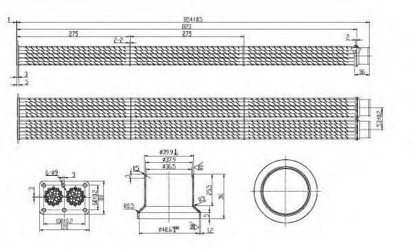 Радиатор, рециркуляция ОГ NRF 48101