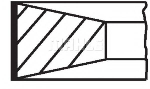 Комплект поршневых колец MAHLE ORIGINAL 009 90 N0