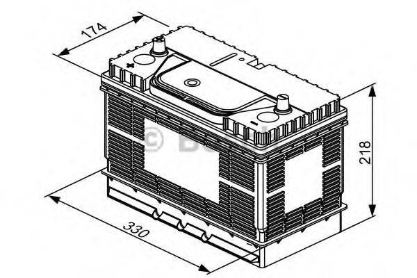 Аккумулятор автомобильный (АКБ) BOSCH 0 092 T30 500