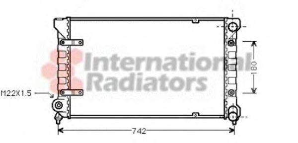 Радиатор охлаждения двигателя VAN WEZEL 49002009