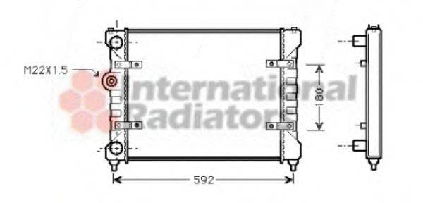 Радиатор охлаждения двигателя VAN WEZEL 49002023