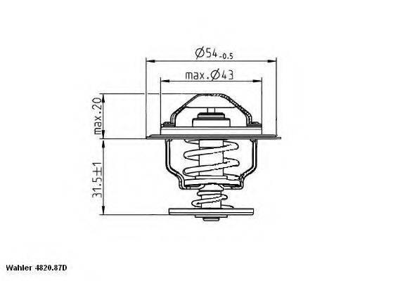 Термостат WAHLER 4820.87D