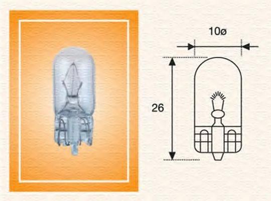 Лампа накаливания, фонарь указателя поворота; Лампа накаливания, освещение щитка приборов; Лампа накаливания MAGNETI MARELLI 003822100000