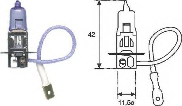 Лампа накаливания, противотуманная фара; Лампа накаливания MAGNETI MARELLI 002553100000